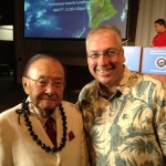 Senator Daniel Inouye and Me at STEM council